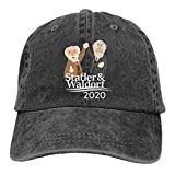 Yuanmeiju Gorra de Mezclilla Statler and Waldorf Unisex Camping Retro Cowboy Baseball Cap Adjustable Flat Cap Black