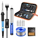 Fer à Souder Kit, SREMTCH 60W Kit de Soudure Electrique avec Interrupteur On/Off, Temperature...