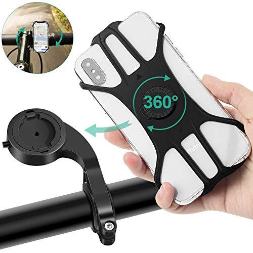 MOSUO Handyhalterung Fahrrad, Universal Handy Halterung Motorrad Handyhalterung mit 360° Drehbar Fahrradhalterung Halter Abnehmbar Lenker für alle 4-6.5 Zoll Smartphones