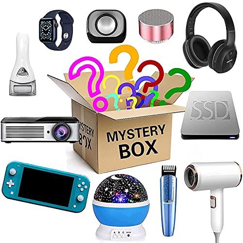 ZPENG Mystery Box, Casuale Una Scatola fortunata per Il Regalo a Sorpresa, Probabilmente riceverai: Telefono Drone Intelligente Orologio Bluetooth Qualsiasi Possibile Confezione Regalo misteriosa