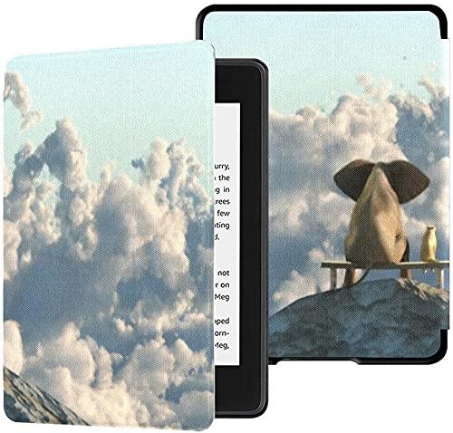 Funda para el Nuevo Kindle Paperwhite Funda de Tela Resistente al Agua (décima generación, versión 2018), Funda para Tableta Elephant Dog Sit On Mountain Top