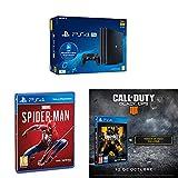 Playstation 4 Pro (PS4) - Consola de 1TB + 20 euros Tarjeta Prepago (Edición Exclusiva Amazon) - nuevo chasis G + Marvel´s Spiderman + Call of Duty: Black Ops IIII + Tarjeta de visita exclusiva (Exclusiva Amazon)