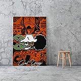 UIOLK Décoration de la Maison Toile HD peintures sur Toile Affiche Art Mural modulaire Animation Japonaise Personnage Image Chambre décoration