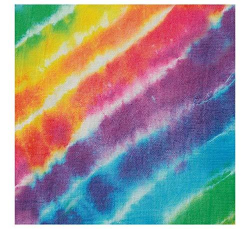 Unique Party Supplies Rainbow Tie Dye Papier Servietten, 16Stück