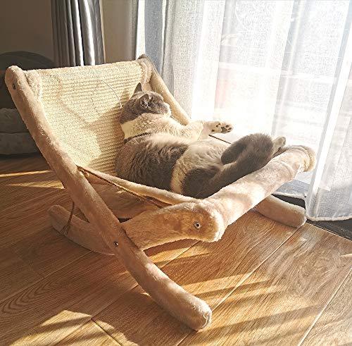 YOYOCAT 猫ベッド 猫寝床 : [ロッキングチェア] ネコソファ 猫用ソファー, おもちゃ 毛玉ボール, キャットタワー つめとぎ, ネコの爪とぎ 爪とぎポール, 休憩所 ぐっすり眠れる 日光浴 夏冬両用, 耐荷重 10KG
