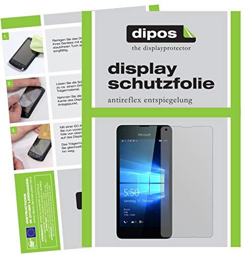 dipos I 2X Schutzfolie matt kompatibel mit Microsoft Lumia 550 Folie Bildschirmschutzfolie