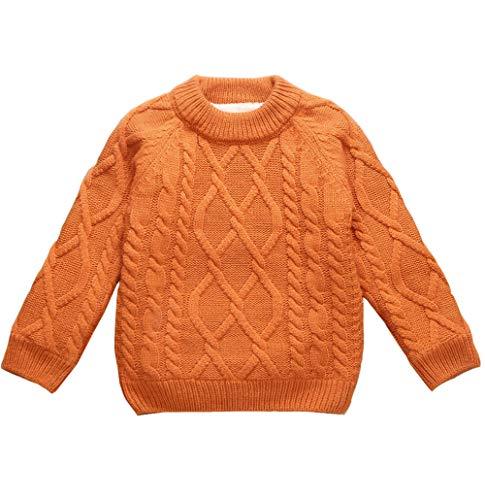 女の子男の子 ズ ベビー キッズ ジュニア 長袖 お出かけ ニットカーディガン セーター 裏起毛 遊び着 通学 普段着 通園 セーター 4種の色80-160cm 110cm, 深い黄色