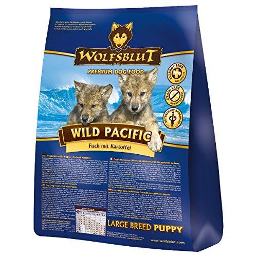 Wolfsblut | Wild Pacific Puppy Large | 15 kg | Seefisch | Trockenfutter | Hundefutter | Getreidefrei