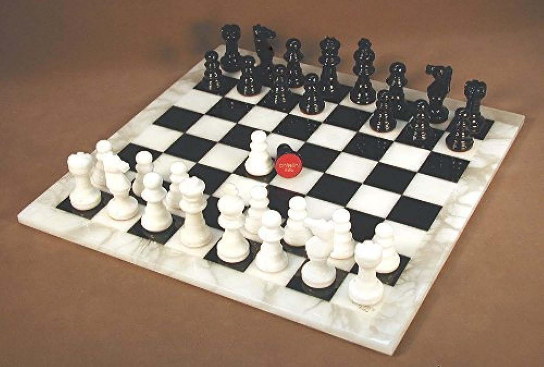 soporte minorista mayorista World Wise Imports negro & & & blanco Alabaster Chess Set by World Wise Imports  hasta un 50% de descuento