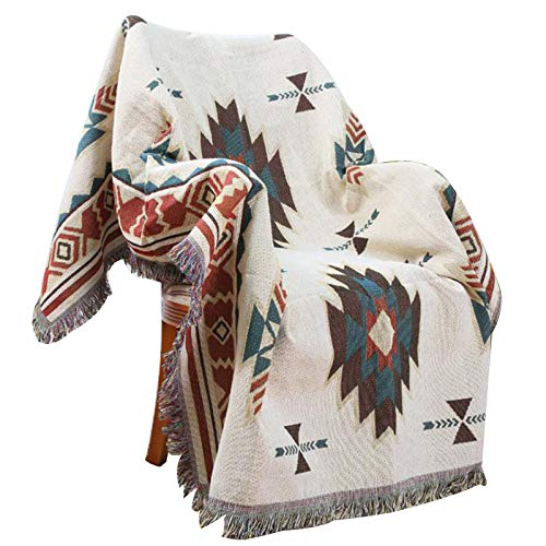 MULLA Leicht zu pflegene Wohndecke, Luftige Sofa-Decke Vielseitig Einsetzbar | Leichte Kuscheldecke Aus 100prozent Baumwolle | Als Sofaüberwurf Oder Wohnzimmerdecke,130x180cm