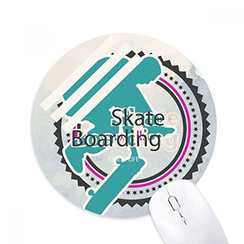 DIYthinker Sport Snowboarden Atleten Illustratie Ronde Antislip Rubber Mousepad Game Office Mouse Pad Gift
