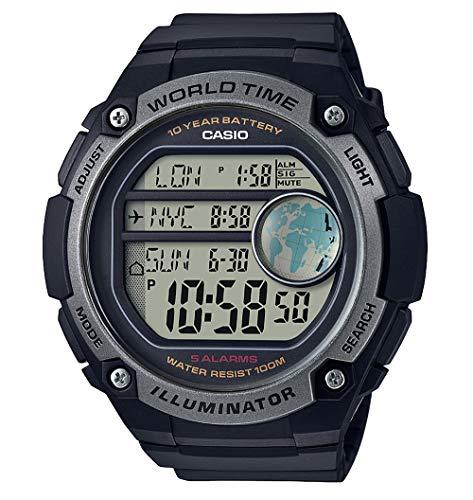 Casio Reloj Digital para Hombre de Cuarzo con Correa en Plástico AE-3000W-1AVEF