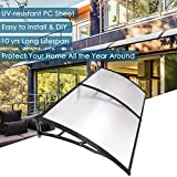 Yescom 79x40' Door Window Outdoor Awning Patio Cover UV Rain Protection 2 Whole Polycarbonate Hollow Sheets