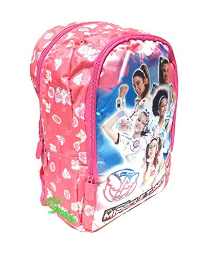 Mini mochila guardería Miracle Tunes Idol x Warrior fucsia rosa niña + llavero Girabrilla