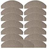 JEMIDI Stufenmatten Treppenmatten 64cm x 24cm mit geketteltem Rand und starker Befestigung (Beige, 15)