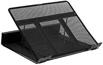 DESIGNA Metal Mesh Ventilated Adjustable Laptop Stands Computer Notebook Holder Stand Riser Compatible with Apple MacBook Air Pro Dell XPS HP Samsung Lenovo More Laptops up to 19
