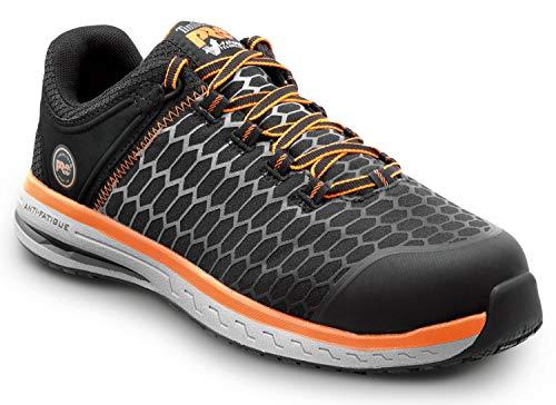 Timberland PRO Powerdrive, Men's, Black/Orange, Comp Toe, EH, MaxTrax Slip Resistant Low Athletic (11.5 M)