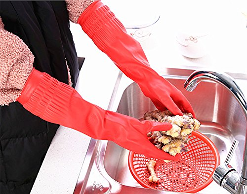 Product Image 6: Rubber Cleaning Gloves Kitchen Dishwashing Glove 3-Pairs,Waterproof Reuseable.(Medium)