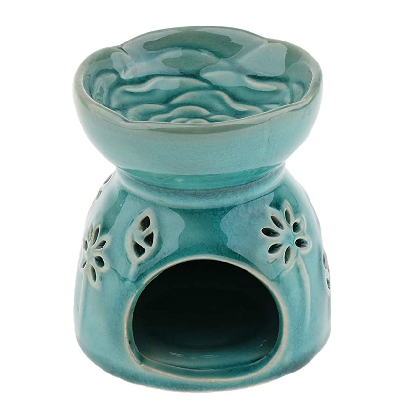 ラメフィドル歌詞Perfeclan 全2色 アロマディフューザー エッセンシャルオイルディフューザー バーナー 陶器 置物 インテリア - 青