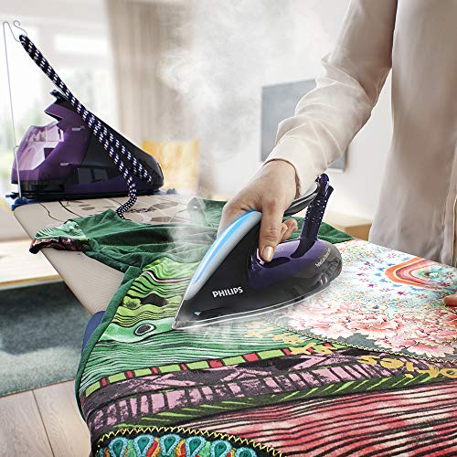 Philips PerfectCare Elite Silence Steam Generator Iron with OptimalTemp No Fabric Burns Technology, 7.5 Bar, 500 g Steam Boost and 1.8 Litre Detachable Water Tank - GC9650/80
