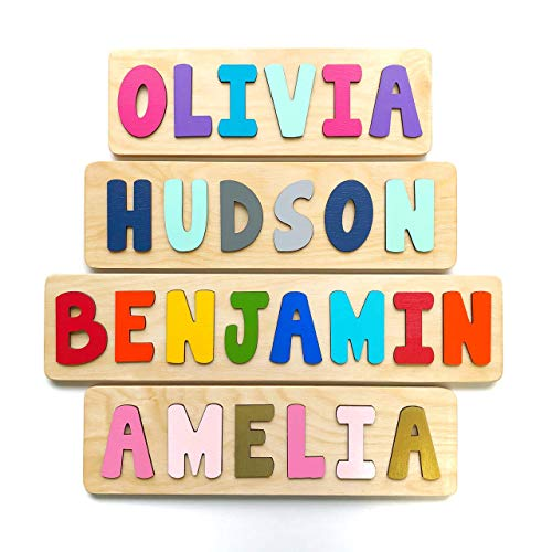 Wooden Name Puzzle, Gift for Baby or...