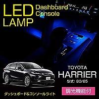 【調光可/LED色選択可】ダッシュボード&コンソールランプキット 青色/BLUE トヨタ ハリアー【型式:80/85】