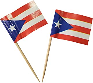 Puerto Rico Toothpick Flag Small Mini Stick Cupcake Toppers Flags Cocktail Food Bar Cake Flags 100 Pcs