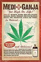 メディガンジャは、高いマリファナで人生を得る ポスター、ヨーロッパとアメリカのスタイルのポスター、大きさ:30x42cm