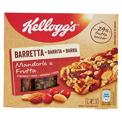Kellogg'S Barretta Mandorle e Frutta, Confezione da 4 x 32g