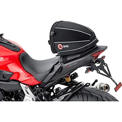 QBag Hecktasche Motorrad Motorradtasche Hecktasche 06, abnehmbar, sportlich, mit Öffnungswinkelbegrenzer, Stabiler und ergonomischer Tragegriff, formstabil, gepolstert, robust, Schwarz, 4,5 Liter