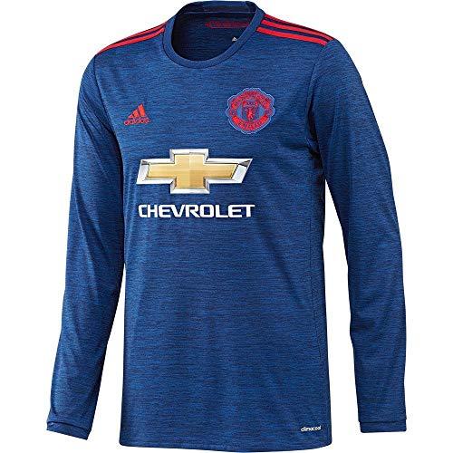 adidas Manchester United Long Sleeve Away Soccer Stadium Jersey 2016-17 (XL)