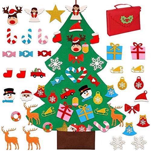 KAHEIGN 95CM Árbol De Navidad De Fieltro con 30 Piezas Desm