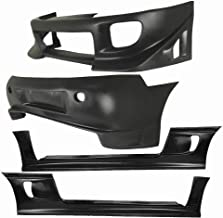 KBD Body Kits Compatible with Mitsubishi Eclipse/Eagle Talon 1995-1999 Blits Style 4 Piece Flexfit Polyurethane Full Body Kit. Extremely Durable, Easy Installation, Guaranteed Fitment, Made in USA!