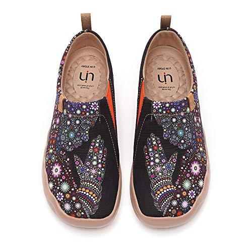 UIN Women's Slip ons Travel Shoes Casual Painted Canvas Walking Flats Pray for Goodness (40)