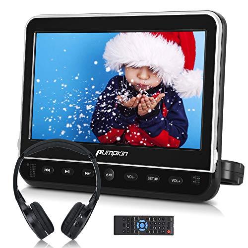 PUMPKIN 10.1 Inch Car Headrest DVD Player with Headphone, Support HDMI Input, 1080P Video, Region...