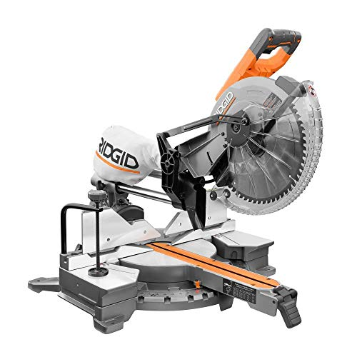 RIDGID 15 Amp Corded 12-inch Dual-Bevel Miter Saw with LED