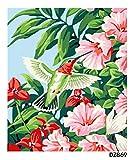 Pintura al óleo de Bricolaje,Pintura por números,Colibrí Flor De Cuerno Pintar por Numeros Adultos Niñost Principiantes, para hogar decoración de casa (sin marco) 40 x 50 cm
