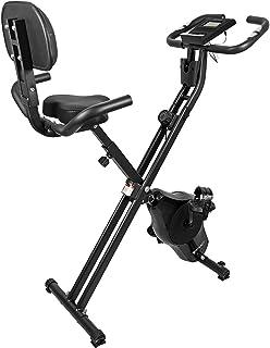 STEADY フィットネスバイク (最新UXモデル)【背もたれ / 心拍数計測 / 静音 / 小型 / 折りたたみ式 / 負荷16段階】ST120