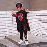 ZGCP Costumes d'Halloween Vêtements Spiderman pour enfants Costume Altman Batman, noir 100 mètres