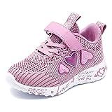 Zapatos Deportivas Niña Zapatillas de Correr Transpirables Zapatillas Ligeras Rosado Calzado Running