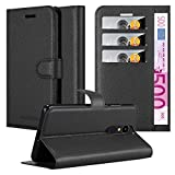 Cadorabo Book Case works with LG K20 in OXID BLACK - with