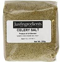 JustIngredients Essential Sal de Apio - 5 Paquetes de 250 gr - Total: 1250 gr