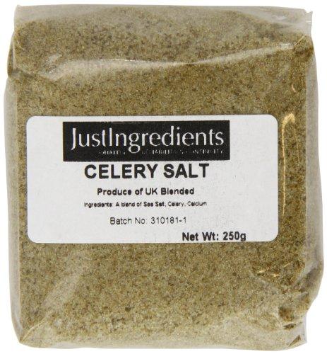JustIngredients Essential Sal de Apio - 5 Paquetes de 250 gr
