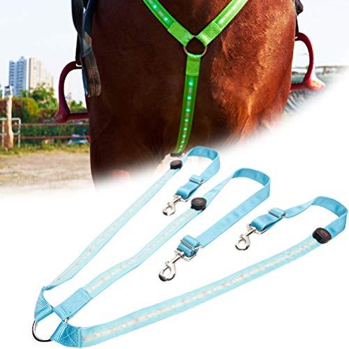 Zhangpu LED Brustgurt Pferdegeschirr, Einstellbares USB wiederaufladbar Pferde leuchthalsband Zubehör für Dunkle Umgebung Outdoor Und Pferdesport