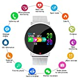 IP67 Waterproof Smart Watch,Fitness Trackers with Heart Monitor and Blood Pressure Step Counter Pedometer,etc Multifunctional Fitness Watch,Support Multiple national languages Mens Womens Unisex,B