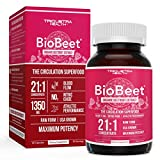 BioBeet® Max Strength Beet Root Capsules - 21:1 Concentrate, Each Serving Derived from 28,350 mg Organic Beetroot - Absorption Enhancement with BioPerine® Black Pepper Extract (60 Capsules)