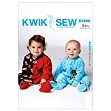 Kwik Sew Baby Easy Sewing Pattern 3960 Sleeper Onesie with Appliques