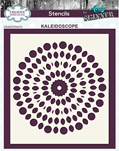 Creative Expressions Kaleidoscope-Stencil Andy Skinner - Caleidoscopio - Plantilla, 15 x 5.25 cm