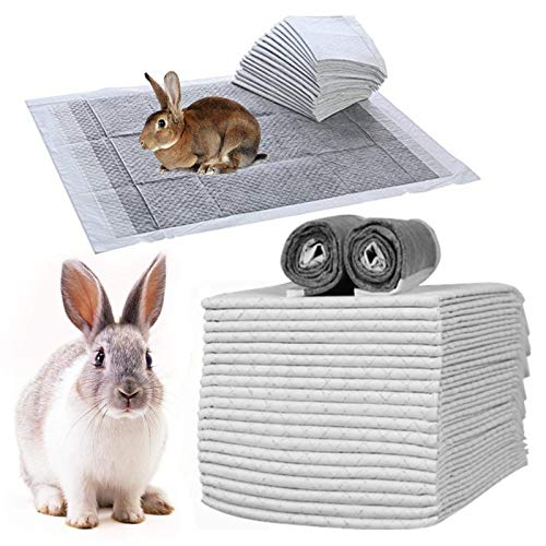 Pet Diaper Disposable Super Absorbent Healthy Clean Nappy Mat for Rabbit Cage Pad Diaper Supplies for Reptiles Cats and Small Animals (100 pcs Gray)