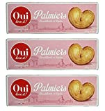 Oui Love It French Puff Pastry Cookies Palmiers From France 100g (3.52oz) Pack of 3